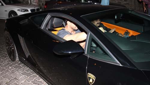 Exclusive John Abraham Snapped Driving His Lamborghini In Bandra