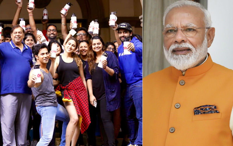 PM Narendra Modi Lauds Varun Dhawan-Sara Ali Khan's Coolie No 1 For Supporting Ban On Single-Use Plastic