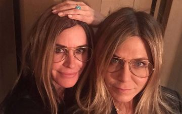 Monica Courteney Cox Goes Blonde To Twin With Best FRIEND Rachel Jennifer Aniston On Her 51st Birthday