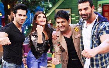 PIC ALERT: Varun, John and Jacqueline promote Dishoom on Kapil's show