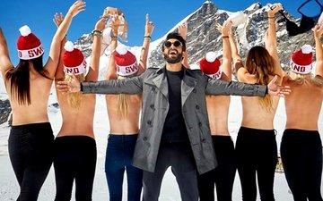 Ranveer Singh poses with topless beauties in Switzerland