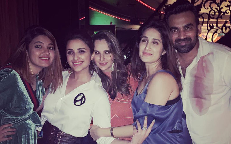 Parineeti Chopra, Sania Mirza And Sagarika Party Hard; Zaheer Khan's Shirt Clearly Hints They Had A Blast