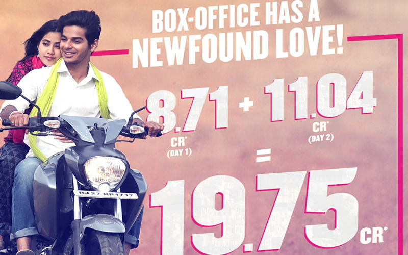 Dhadak Box-Office Collection, Day 2: Love Pours In For Janhvi Kapoor-Ishaan Khatter, Film Speeds Away To Rs 11.04 Crore