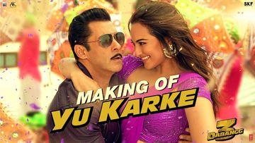 Dabangg 3 Song Yu Karke Making: Salman Khan, Sonakshi Sinha And The Crew Are Hooked On To Mumbaiya Kiss Fever