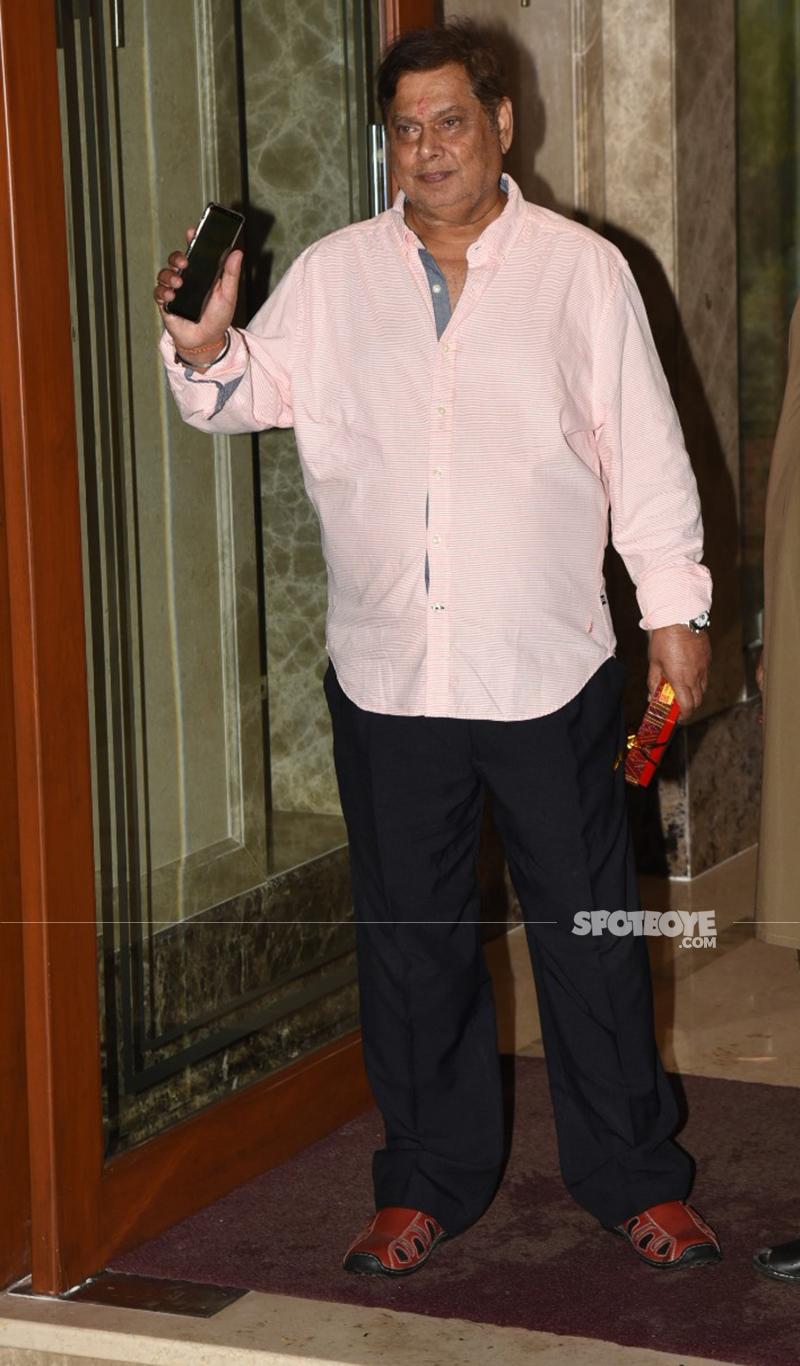 david dhawan at sanjay dutts ganpati festivities