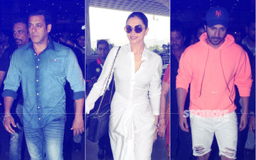 Salman Khan, Deepika Padukone And Varun Dhawan Make A Style Statement At The Airport