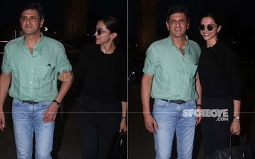 Deepika And Prakash Padukone's Cute Father-Daughter Moments From The Airport Can't Be Missed