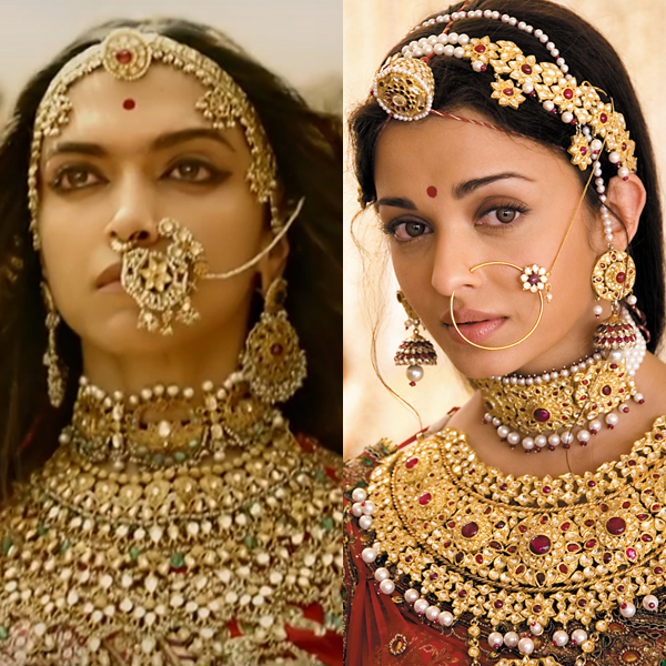 deepika as rani padmini aishwarya as jodha