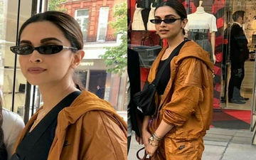 Deepika Padukone's Black Sunnies Call For Attention; Diva Poses With Fans In London