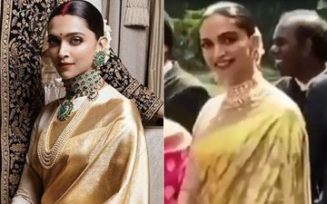 Wait, Did Deepika Padukone Just REPEAT Her Reception Saree For Friend Urvashi Keshvani's Wedding?