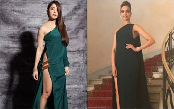 Nushrat Bharucha's Dangerously Thigh-High Slit Gown Reminds Us Of Deepika Padukone's Cannes Look – Who Werked It Better?