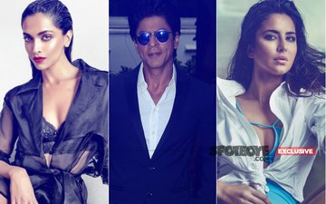 Will Deepika Padukone & Katrina Kaif Come FACE-TO-FACE At Shah Rukh Khan's 52ND Birthday Bash Tonight?