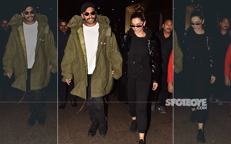Deepika Padukone and Ranveer Singh Make A Stylish Entry As They Return To Mumbai After Wrapping Up The London Schedule of '83
