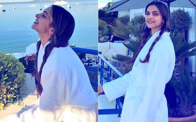 70TH Cannes Film Festival: Deepika Padukone Enjoys The Sun Before Her Red Carpet Walk
