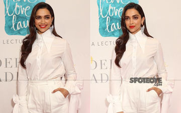 Deepika Padukone Is A Vision In White At The Live Love Laugh Event, A Total Stunner- SEE PICS