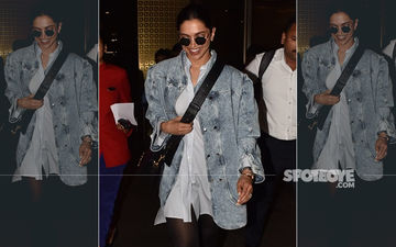 Deepika Padukone Is Sexy As Hell In That Denim Shirt As She Returns From London