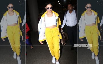 Deepika Padukone Makes A Sunflower Splash At The Mumbai Airport A Day After Falling Sick