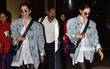 Deepika Padukone Opts For A Chic Look, As She Returns To India After Witnessing The Wimbledon Finals