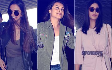 Deepika Padukone, Rani Mukerji & Shruti Haasan Look Stylish At The Airport