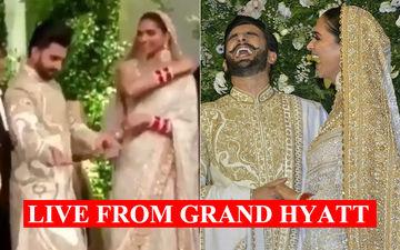 Deepika Padukone-Ranveer Singh Mumbai Wedding Reception: Actor Breaks Into Impromptu Jig, Couple Laughs As Actress Called 'Bhabhiji' – Watch Inside Videos