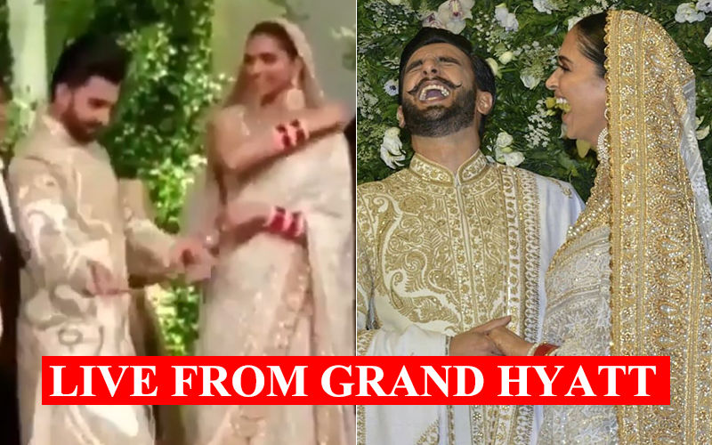 Deepika Padukone-Ranveer Singh Mumbai Wedding Reception: Actor Breaks Into Impromptu Jig, Couple Laughs As Actress Called 'Bhabhiji' – Watch Inside Videos