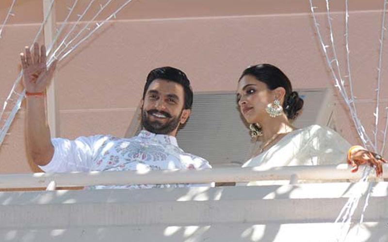 Deepika Padukone-Ranveer Singh Reach Her Bengaluru House, Greet Fans From Balcony