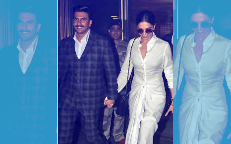 Deepika Padukone & Ranveer Singh Return To The City Holding Hands