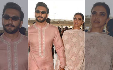 Deepika Padukone-Ranveer Singh Wedding Reception: Twinning In Pink The Couple Leave Bengaluru For Mumbai