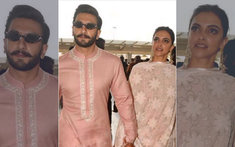 Deepika Padukone-Ranveer Singh Wedding Reception: Twinning In Pink The Couple Leave Bengaluru For Mumbai