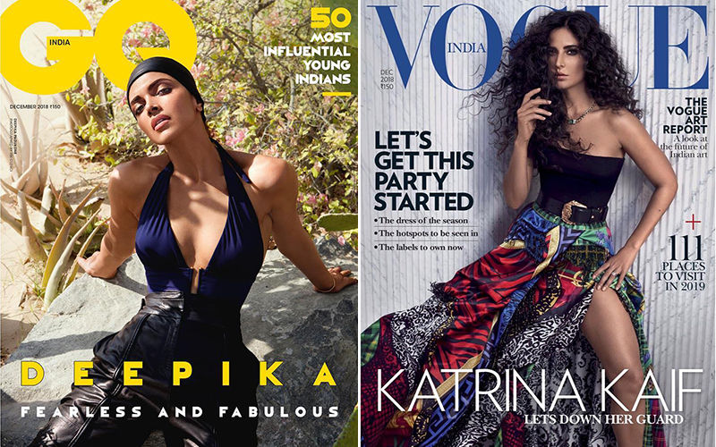 Deepika Padukone's Fearless And Fabulous Avatar Or Katrina Kaif's Messy Look; Who's The Quintessential Magazine Cover Diva?