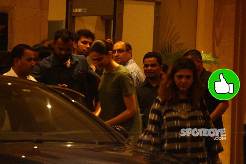 deepika padukone snapped post meeting at jw marriott