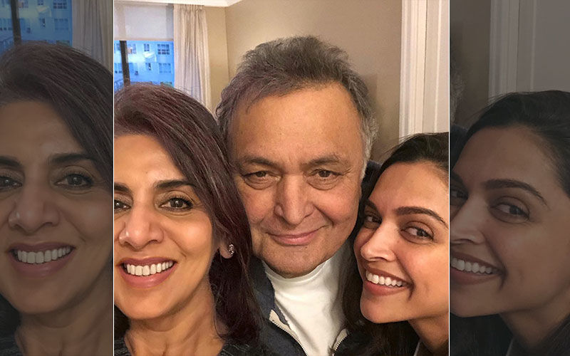 Deepika Padukone Spends A Fun Evening With Rishi Kapoor And Neetu Singh In NYC