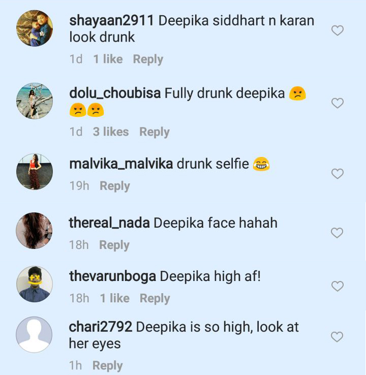 deepika padukone trolled on instagram for looking drunk