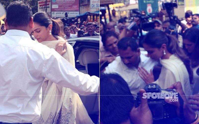 Chaos Outside Siddhivinayak Temple As Deepika Arrives To Seek Blessings Ahead Of Padmaavat Release
