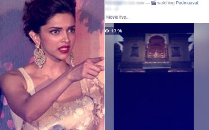 SHOCKING INCIDENT: Padmavaat Full Movie LEAKED, A Facebook User LIVE STREAMS Bhansali's Magnum Opus