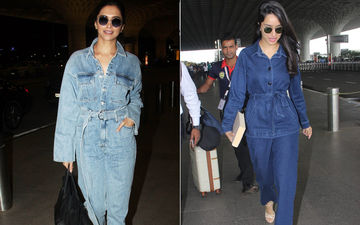 Same Pinch! Deepika Padukone And Shraddha Kapoor Sport All-Denim Look, Who Looks Better?