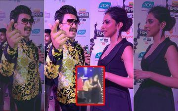 64TH Filmfare Awards 2019: Ranveer Singh Goes Down On His Knees To Receive Best Actor Award From Wife Deepika Padukone