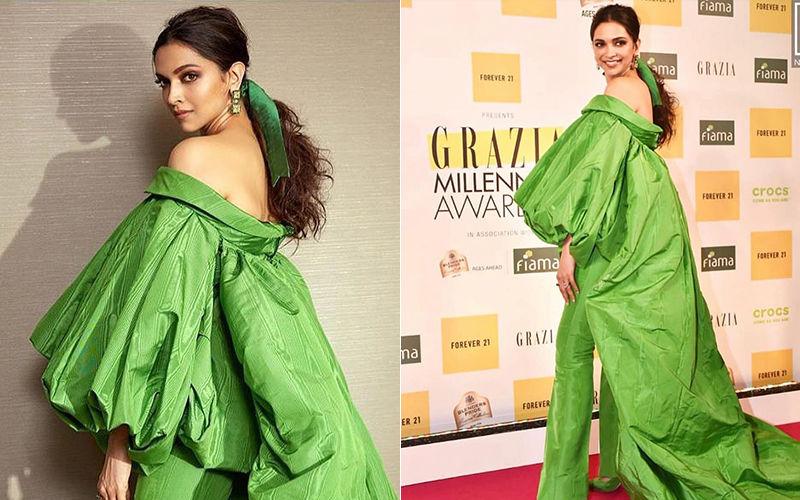 Deepika Padukone Trolled For Her Ballooney Green Outfit At Grazia Millennial Awards 2019; Netizens Call Her 'Patta Gobhi' And 'Grasshopper'