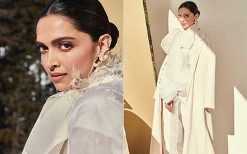 Deepika Padukone Looks Scintillating In All-White Getup But What's Her Obsession With Over-Sized Coats?