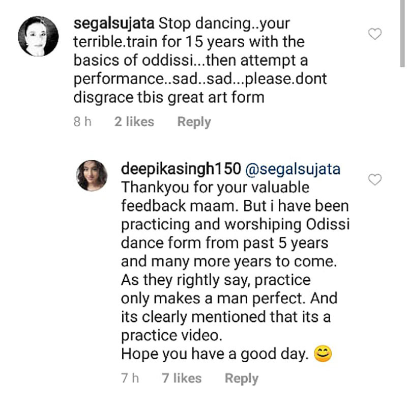 Deepika Comment