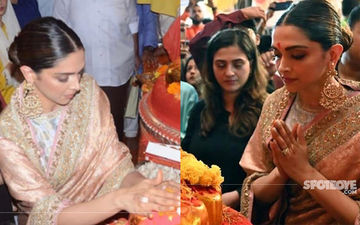 Ganeshotsav 2019: Deepika Padukone Looks Ethereal In A Silk Saree As She Seeks Blessings From Lalbaugcha Raja