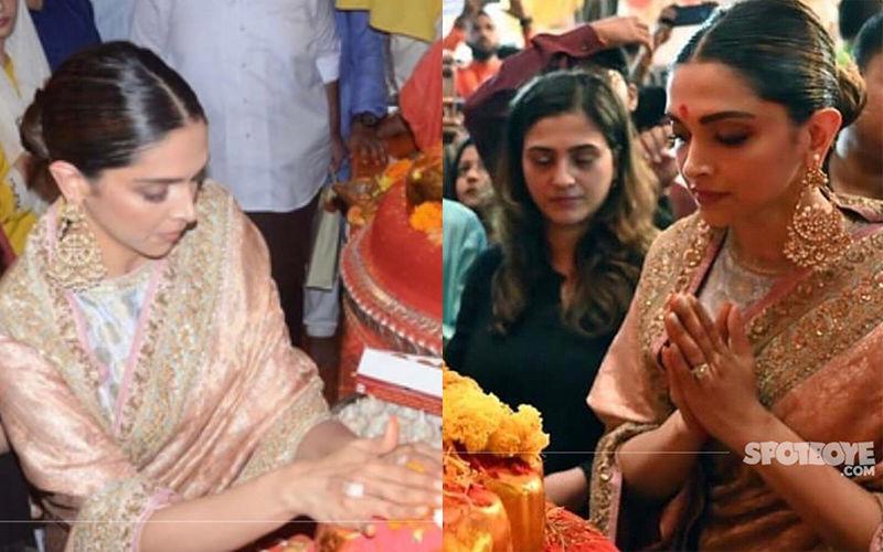 Ganeshotsav 2019: Deepika Padukone Looks Ethereal In A Silk Saree As She Seeks Blessings From Lalbaugcha Raja