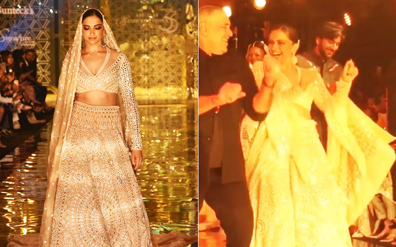 Deepika Padukone Breaks Into A Dance And Makes For A Stunning Showstopper For Abu Jani And Sandeep Khosla's Fashion Show