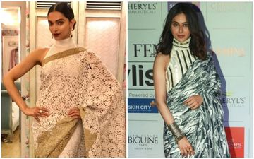 Deepika Padukone Vs Rakul Preet Singh: Who Looked Hotter In The Turtle Neck Blouse With Saree?