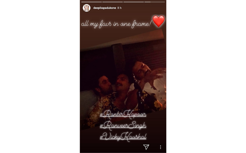 Deepika Padukones Instagram Story