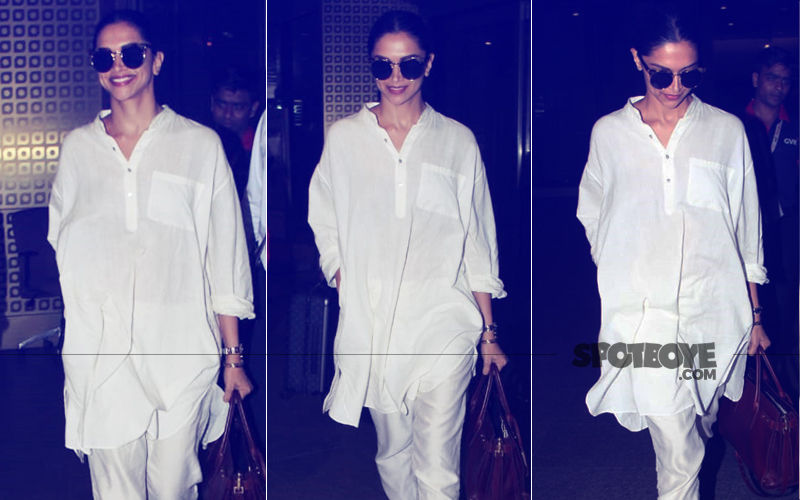 Deepika Padukone Slays Airport Fashion In Pristine White