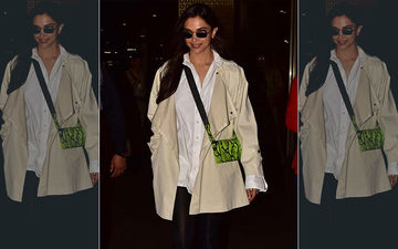 Deepika Padukone Is Back From New York; Keeps It Smart And Elegant At Airport