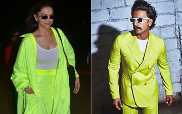 Deepika Padukone Takes Style Tips From Hubby Ranveer Singh; Opts For Neon Separates At The Airport