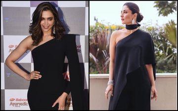 Deepika Padukone Vs Kareena Kapoor Khan- Which Diva Rocked The One-Sided Black Outfit Better?