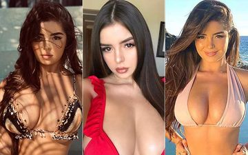 Demi Rose Shows You How To Wear A Bikini Blouse 3 Ways As Her Massive Assets Literally Pop Out